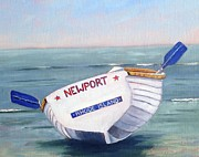 Oars Paintings - Newport Rhode Island Skiff by Betty Ann Morris