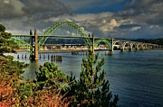 Bay Bridge Photos - Newport Yaquina Bridge by Adam Jewell