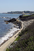 Newport's Cliff Walk View Print by Christiane Schulze
