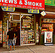 News Stand Prints - News and Smoke - Play Here Print by Miriam Danar