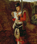 Military Painting Framed Prints - News from Home Framed Print by Sir John Everett Millais