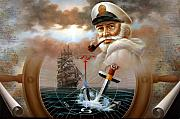 Map Art Originals - NEWS  Map Captain 2 or Sea Captain by Yoo Choong Yeul