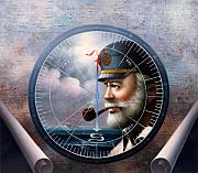 Korea Paintings - NEWS Map Captain 6  or Sea Captain by Yoo Choong Yeul