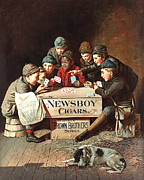 Antique Digital Art Prints - Newsboy Cigars Print by Gary Grayson