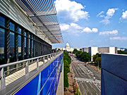 Newseum Art - Newseum on Pensylvania Avenue in Washington DC by Ruth Hager