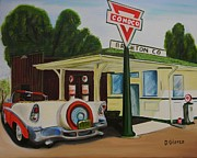 Street Rod Paintings - Next Stop the Rockies by Dean Glorso