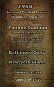 Home Football Game Posters - NFL Championship Game 1958 Poster by David Dehner