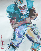 Sports Art Paintings - NFL Football Painting by Robert Joyner