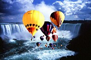 Canadian Sports Artist Prints - Niagara Balloons 3 - Fantasy Art Collage Print by Peter Art Print Gallery  - Paintings Photos Posters