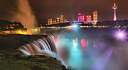 Adam Jewell - Niagara Blue And Purple Starburst Panorama