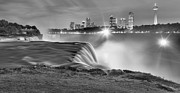 Adam Jewell - Niagara Falls Black And White Starbursts