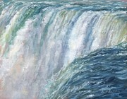 Waterfall Painting Posters - Niagara Falls Poster by David Stribbling