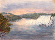 Niagara Falls From Table Rock 1846 Print by Padre Art