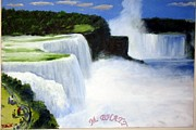 Wonder Of The World Paintings - Niagara Falls by M Bhatt