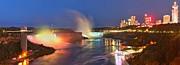 Adam Jewell - Niagara Falls Night Lights Panorama