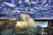Horseshoe Falls Framed Prints - Niagara Falls Rainbow Framed Print by Shawn Everhart