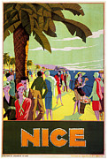 Azur Digital Art Prints - Nice 1926 Print by Nomad Art And  Design