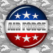 Nice Air Force Shield 2 Print by Pamela Johnson