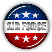 Nice Air Force Shield Print by Pamela Johnson