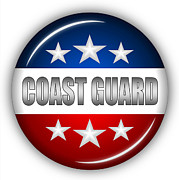 Nice Coast Guard Shield Print by Pamela Johnson