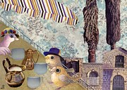 Jerusalem Mixed Media Posters - Nice cups of tea Poster by Nekoda  Singer