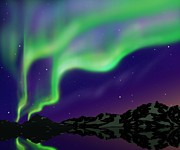 Northern Lights Prints - Nice Sky Print by Atiketta Sangasaeng