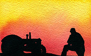 Machinery Painting Posters - Nice Time of Day Poster by R Kyllo
