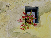 Niche With Flowers Print by Sam Sidders