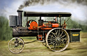 Greyhound Photos - Nichols and Shepard Steam Traction Engine by F Leblanc