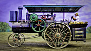 Greyhound Photos - Nichols Shepard Steam Traction Engine Engineer by F Leblanc