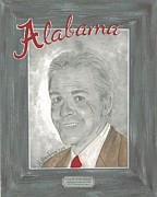Nick Saban Posters - Nick Saban II Poster by Herb Strobino