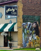 Interesting Building Posters - Nickys Cafe Poster by Robert Harmon