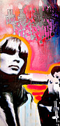 Spray Paint Painting Prints - Nico Print by Erica Falke