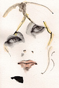 Watercolor Mixed Media Originals - Nico by Mark M  Mellon