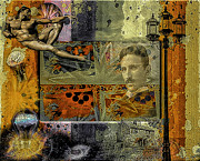 Conspiracy Digital Art - Nicola Tesla by Eleni Mac Synodinos