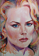 Icons Prints Painting Originals - Nicole by Tachi Pintor