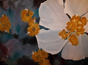 Free Form Painting Metal Prints - Nicoles Flower Metal Print by Alida Cooper