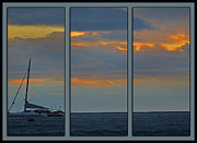 """reflection Photographs"" Posters - Nicoya Peninsula Triptych Poster by Gary Keesler"
