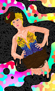 Fashion Art For Print Posters - Nid Doiseau De Angela Balderston Poster by Kenal Louis