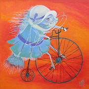 Children Sports Paintings - Niece Sonia by Marina Gnetetsky
