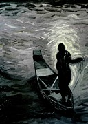 Canoe Originals - Niger River at Night by Liz Young