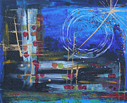 Abtract. Paintings - Night Abstract I by Paula Santos