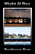 Boat House Row Framed Prints - Night and Day Framed Print by Bill Cannon