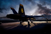Fa-18 Posters - Night Angel Poster by Peter Chilelli