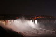 Spate Photos - Night At Niagara Falls by Kathleen Peltomaa Lewis