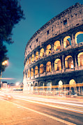 Long Street Prints - Night at the colosseum II Print by Matteo Colombo