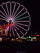 St. Lucie County Prints - Night at the Fair Print by Megan Dirsa-DuBois