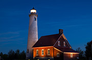 Patrick Shupert Metal Prints - Night at the Lighthouse Metal Print by Patrick Shupert