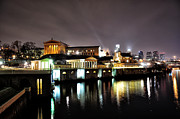 Waterworks Digital Art - Night  at the Philadelphia Art Museum by Bill Cannon