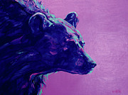 Night Game Paintings - Night Bear by Derrick Higgins